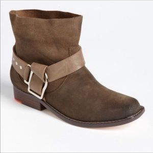 Joe's | Suede buckle studded ankle bootie 7